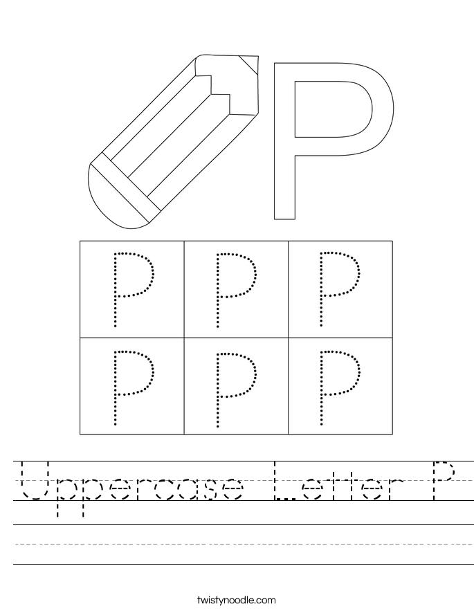 Uppercase Letter P Worksheet