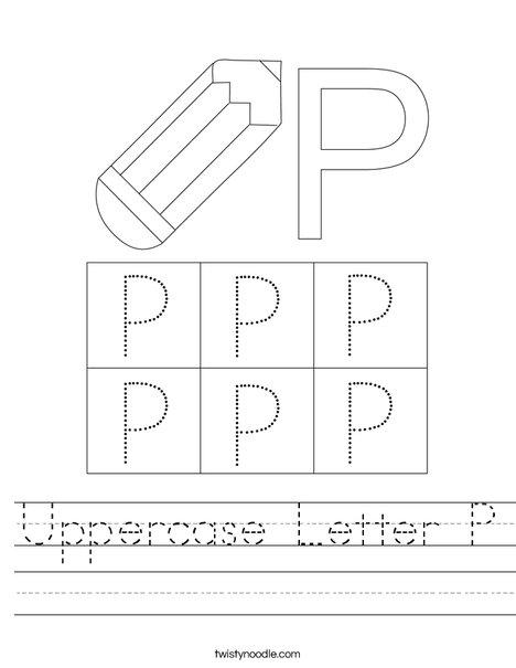 Letter P Worksheet