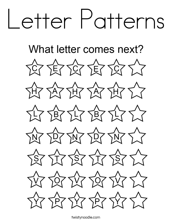 Letter Patterns Coloring Page