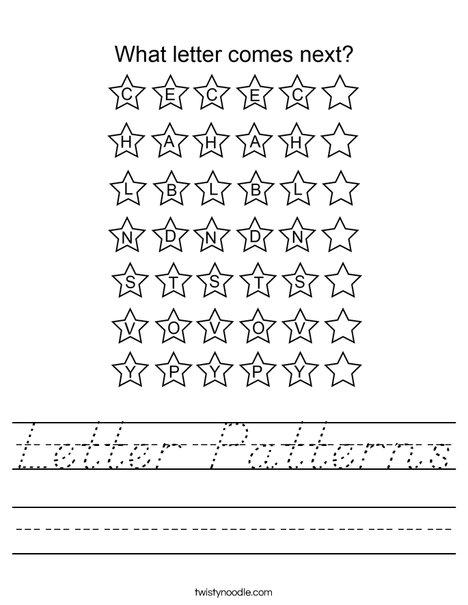 Letter Patterns Worksheet