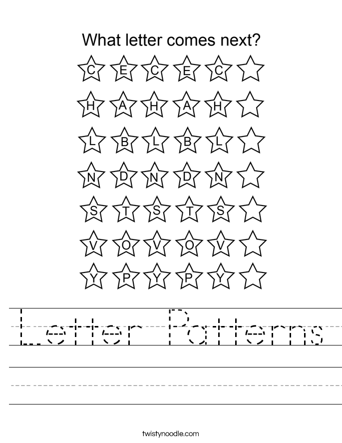 Letter Patterns Worksheet