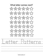 Letter Patterns Handwriting Sheet