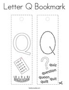 Letter Q Bookmark Coloring Page