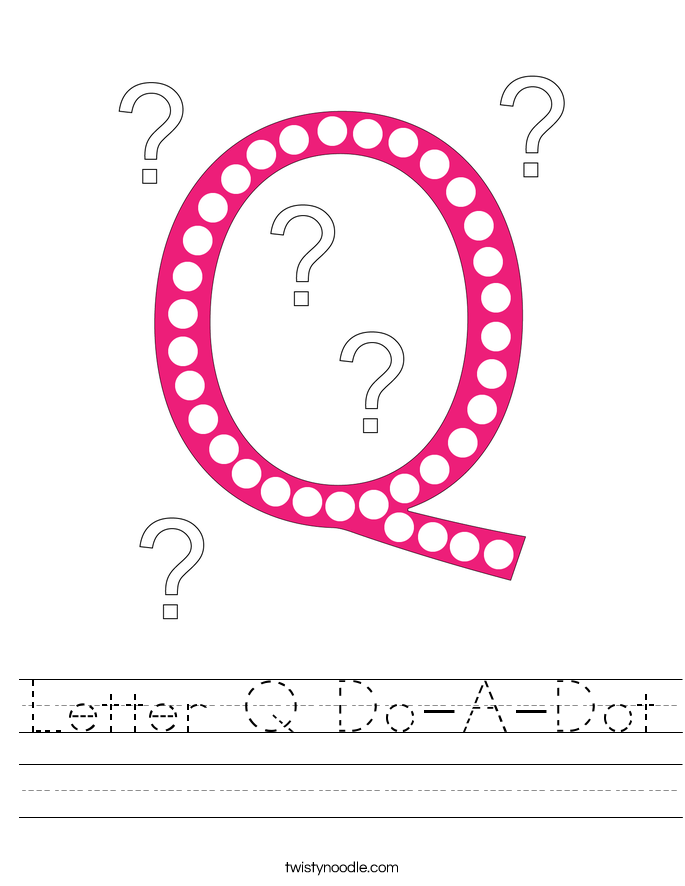 Letter Q Do-A-Dot Worksheet