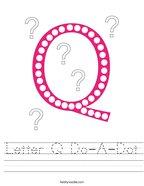 Letter Q Do-A-Dot Handwriting Sheet