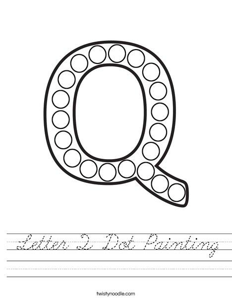 Letter Q Dot Painting Worksheet
