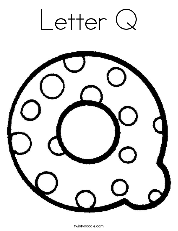 Letter Q Coloring Page Twisty Noodle Coloring Pages Q