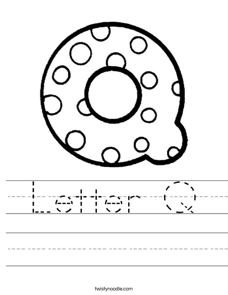 Letter Q Dots Worksheet