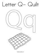 Letter Q- Quilt Coloring Page