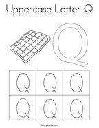 Uppercase Letter Q Coloring Page