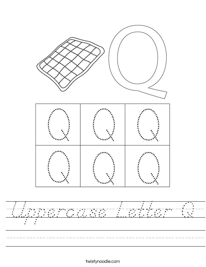 Uppercase Letter Q Worksheet