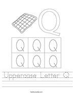 Uppercase Letter Q Handwriting Sheet