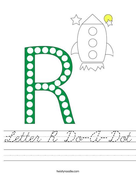 Letter R Do-A-Dot Worksheet