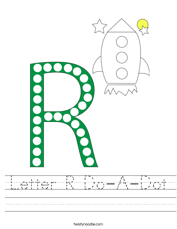 Letter R Do-A-Dot Worksheet