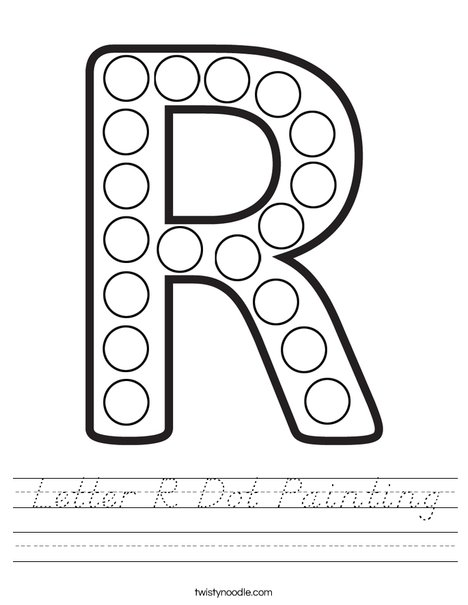 Letter R Dot Painting Worksheet