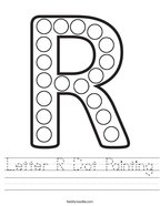 Letter R Dot Painting Handwriting Sheet