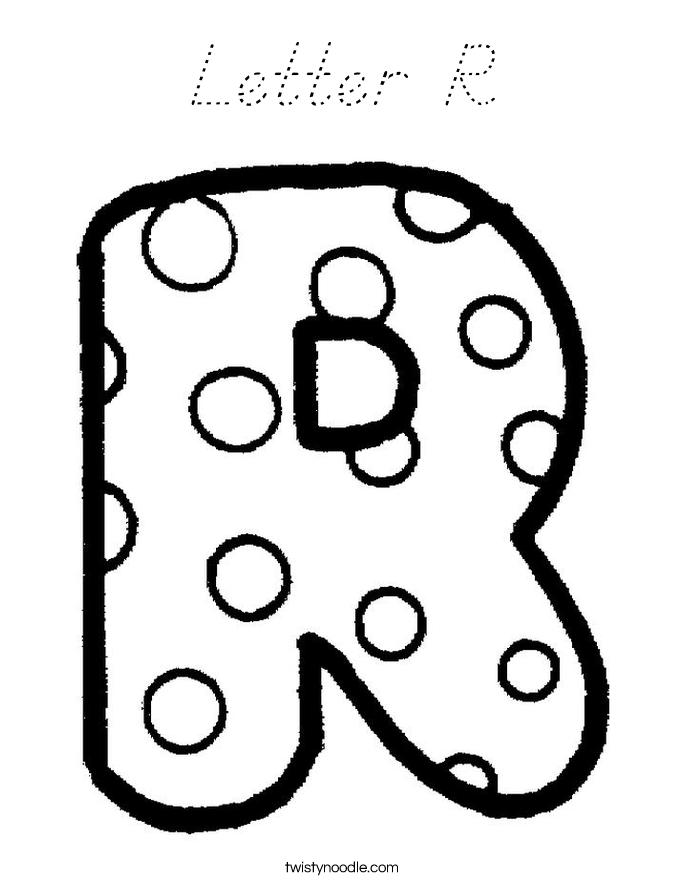 Letter R Coloring Pages  dltkteachcom
