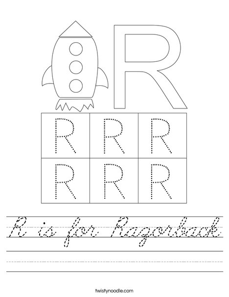 Letter R Worksheet