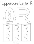 Uppercase Letter R Coloring Page