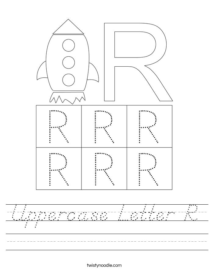 Uppercase Letter R Worksheet