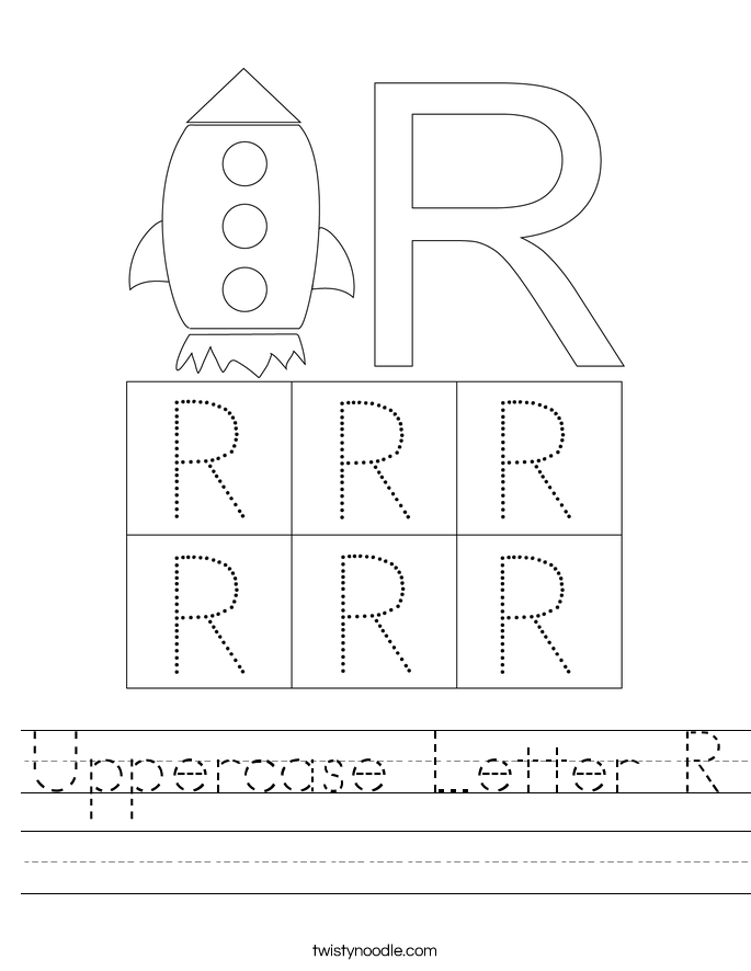 Uppercase Letter R Worksheet