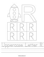Uppercase Letter R Handwriting Sheet