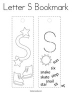 Letter S Bookmark Coloring Page