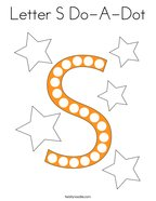 Letter S Do-A-Dot Coloring Page