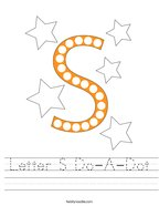 Letter S Do-A-Dot Handwriting Sheet