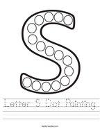 Letter S Dot Painting Handwriting Sheet