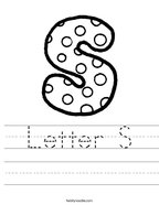Letter S Handwriting Sheet
