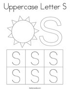 Uppercase Letter S Coloring Page
