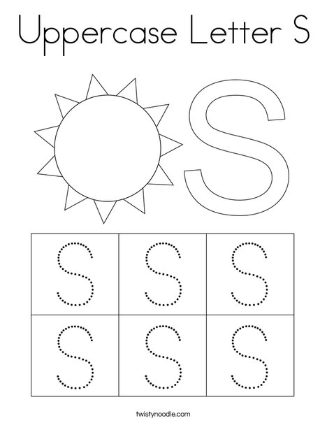 Letter S Coloring Page