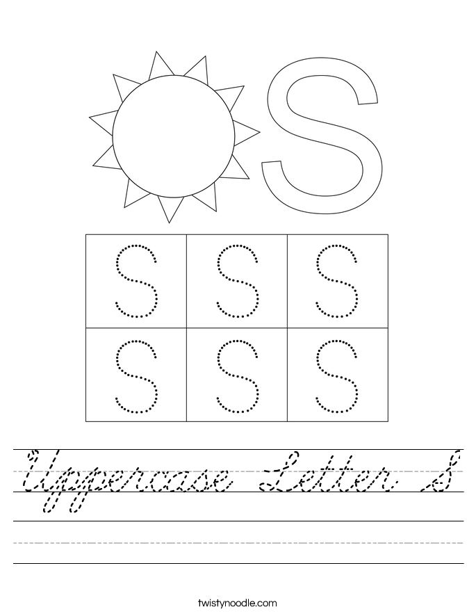 Uppercase Letter S Worksheet