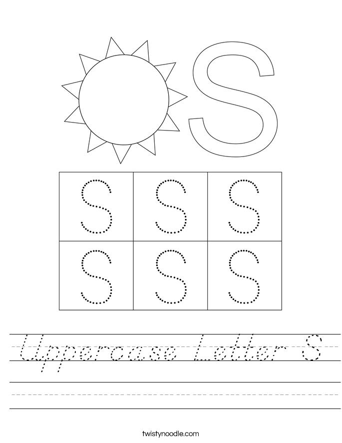 Uppercase Letter S Worksheet