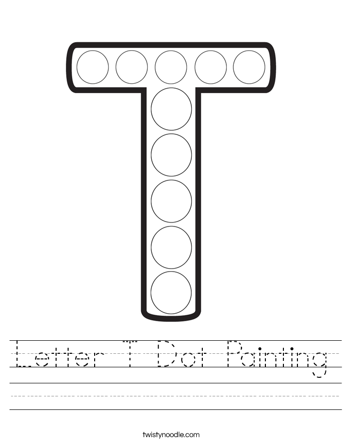 Letter T Dot Painting Worksheet