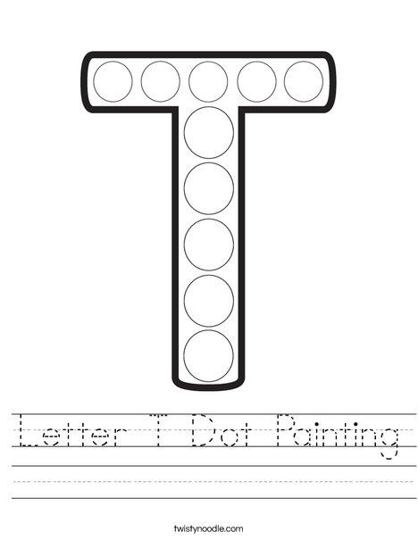 Letter T Dot Painting Worksheet