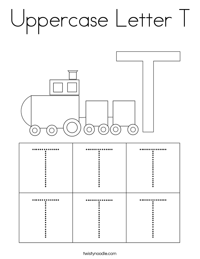 Uppercase Letter T Coloring Page
