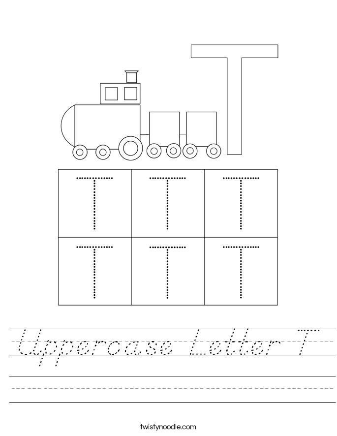 Uppercase Letter T Worksheet