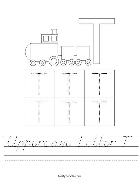 Letter T Worksheet