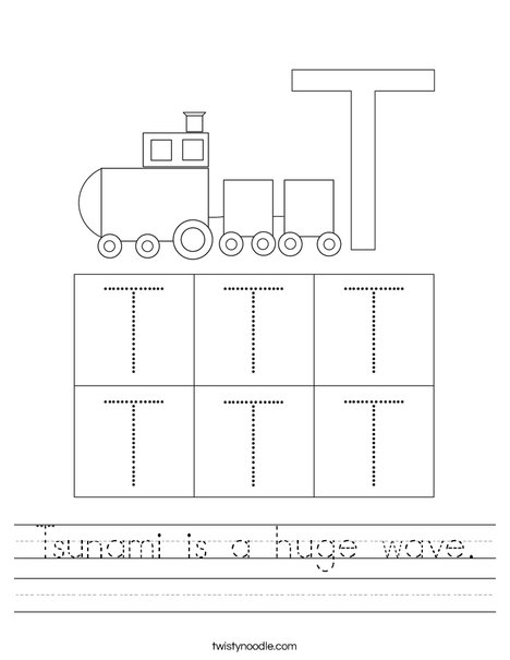 Letter T Worksheet