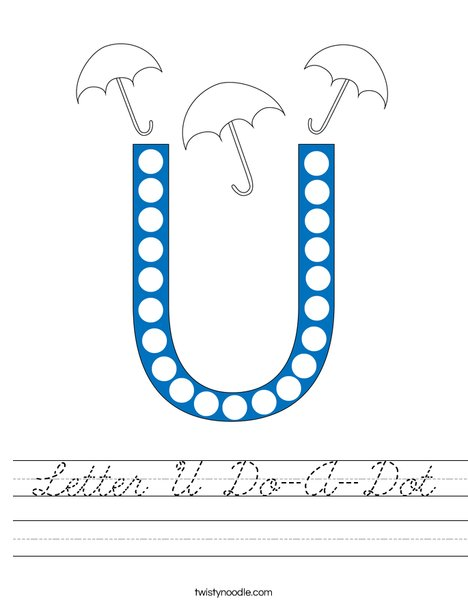 Letter U Do-A-Dot Worksheet