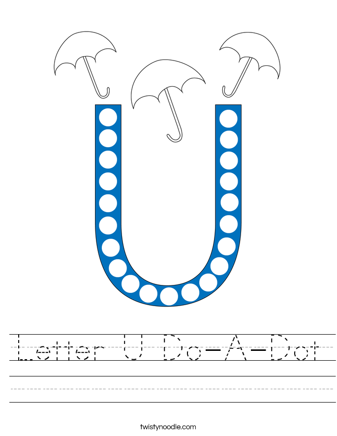 Letter U Do-A-Dot Worksheet