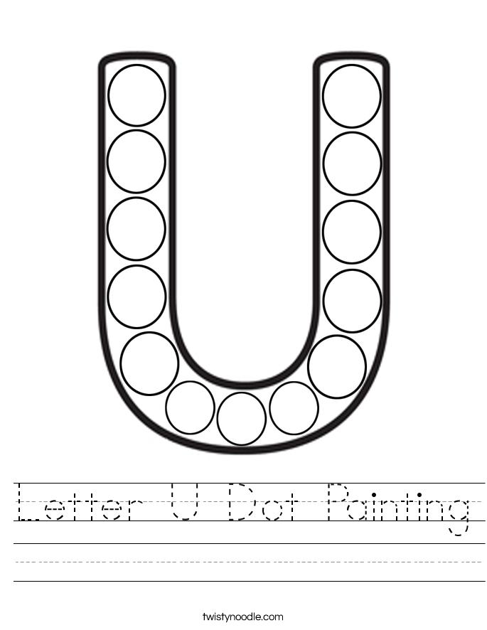 Letter U Dot Painting Worksheet