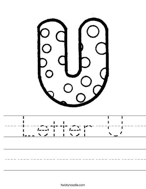 Letter U Dots Worksheet