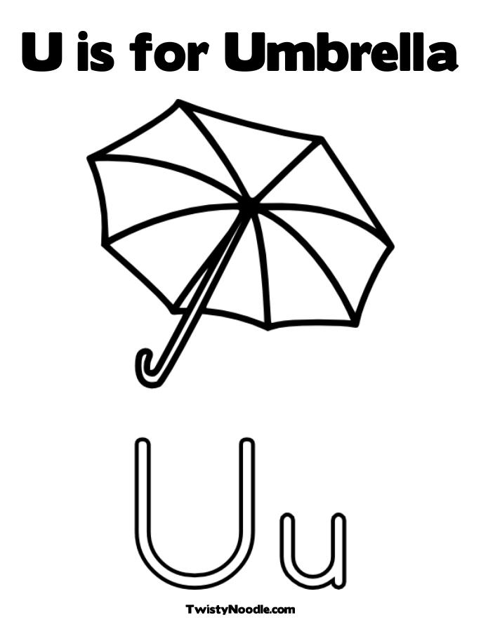 Umbrella coloring sheet for Printable umbrella template for preschool