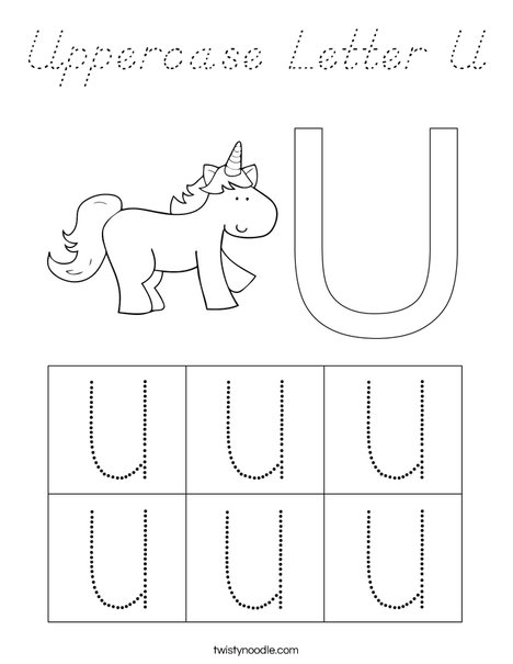 Letter U Coloring Page