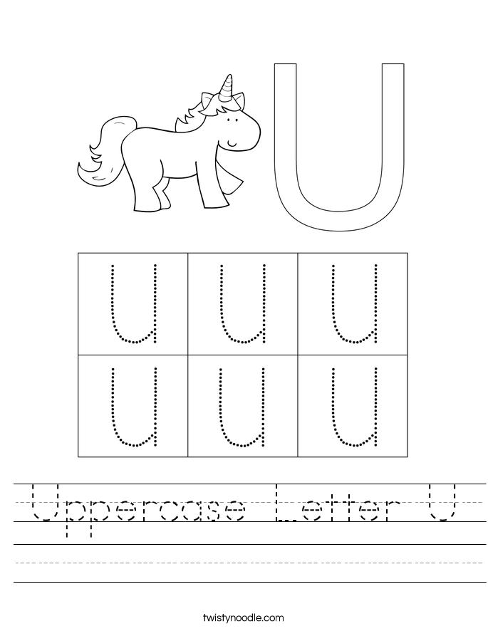 Uppercase Letter U Worksheet