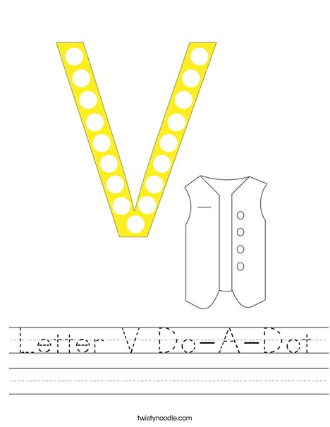 Letter V Do-A-Dot Worksheet