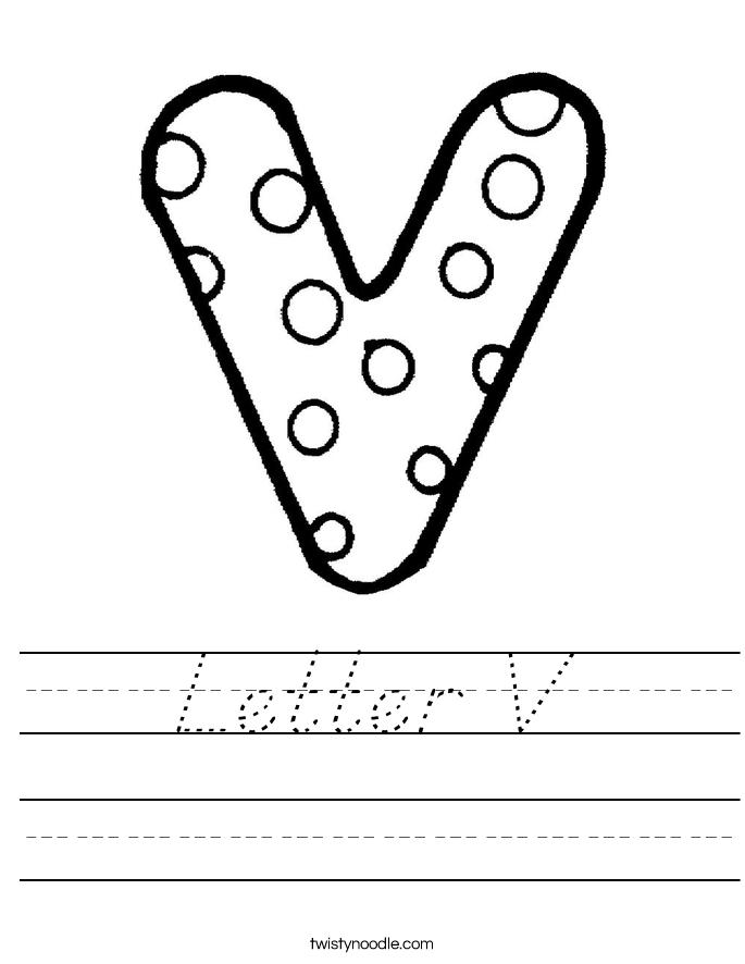 Letter V Worksheet